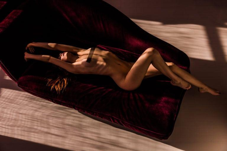 sasha nude on couch