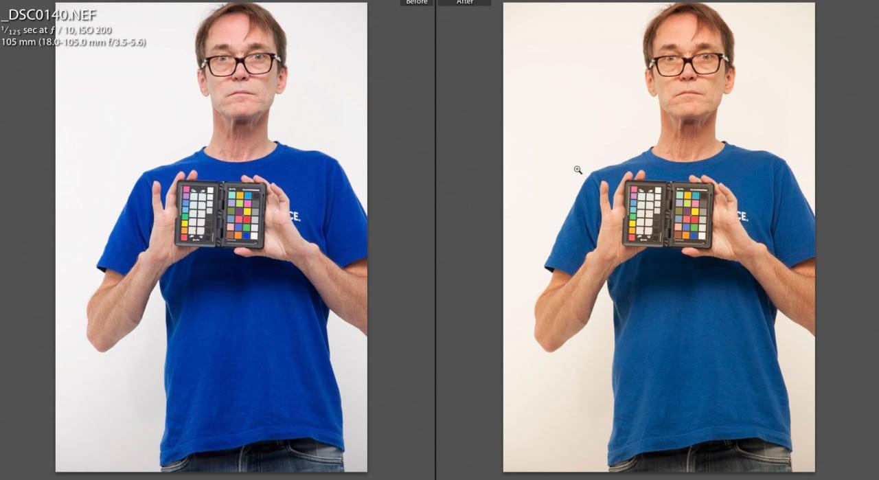 Lightroom default Adobe calibration vs X-Rite Calibration profile X-Rite Color Checker Passport review