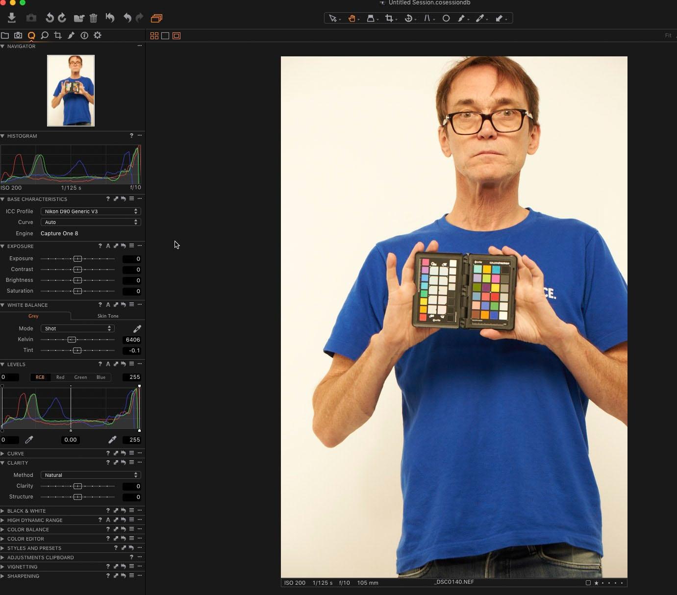 Capture One Default color profile X-Rite Color Checker Passport review