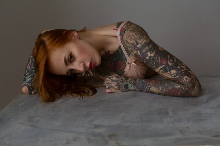 Glamour Portrait Beauty workshop with Yana Sinner by Neil Snape Beauty Portraits Inked Nu